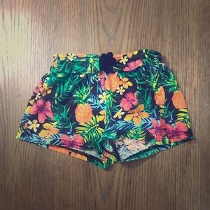 Koala Kids tropical print drawstring shorts